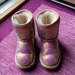 UGG Sequin Boots Size 9